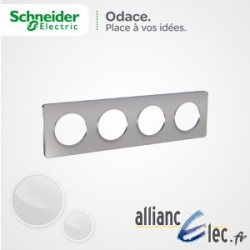 Plaque Alu 4 Postes entraxe 71 Schneider Odace Touch