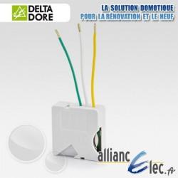 Micromodule émetteur radio pour interrupteur double poussoir - 1 voie variation d'éclairage - Deltadore Tyxia 2640