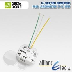 Micromodule émetteur encastré alimenté 230V - 1 ou 2 voies éclairage, volets roulant ou scénarios - Deltadore Tyxia 2700