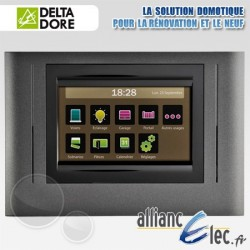 Ecran de commande tactile sans fil pour centralisation et programmation des ouvrants et des éclairages - Deltadore Tyxia 3000