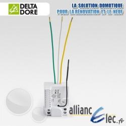 Micromodule récepteur radio - 1 voie montée/descente - volet roulant ou store banne motorisé - Deltadore Tyxia 4630