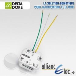 Micromodule récepteur radio 10 Ampères - sortie alimentée - 1 voie marche/arrêt + minuterie - Deltadore Tyxia 4811
