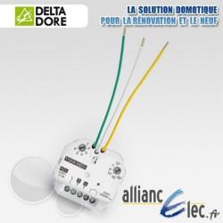Micromodule récepteur radio 10 Ampères - sortie contact sec - 1 voie marche/arrêt + minuterie - Deltadore Tyxia 4801