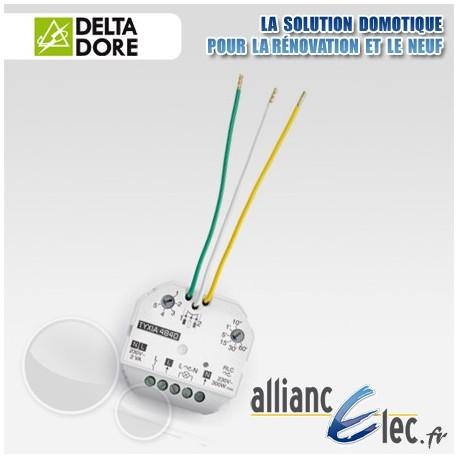 Micromodule récepteur radio - sortie alimentée phase neutre - 1 voie variation d'éclairage + minuterie - Deltadore Tyxia 4840