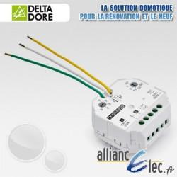 Micromodule récepteur radio - sortie alimentée par la charge - 1 voie variation d'éclairage + minuterie - Deltadore Tyxia 4850
