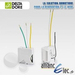 Pack Micromodules Eclairage - Va et Vient sans fil - Interrupteur avec neutre - Deltadore Pack Tyxia 500