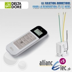 Pack Micromodules Volets Roulants - Commande centralisée sans fil avec retour d'information - Deltadore Pack Tyxia 540