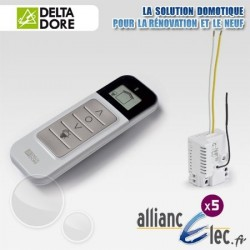Pack Micromodules Eclairage - Commande centralisée sans fil avec retour d'information - Deltadore Pack TYXIA 550