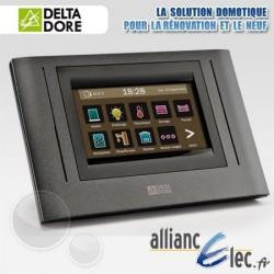 Ecran de commande tactile sans fil : chauffage, alarme, éclairage, ouvrants et autres équipements - Deltadore Tydom 4000