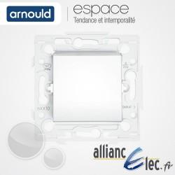 Interrupteur 10A Blanc Arnould Espace Lumière