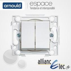 Double poussoir 6A Blanc Arnould Espace Lumière