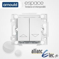 Commande Volet roulant / Store - Inverseur à position momentanée Blanc Arnould Espace Lumière