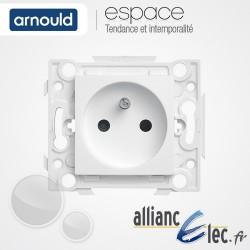 Prise 2P+T 16A Connexion auto Blanc Arnould Espace Lumière
