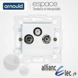 Prise TV-FM-SAT Blanc Arnould Espace Lumière