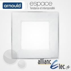 Plaque Ice Blanc 1 poste Simple Arnould Espace Translucide Coloré