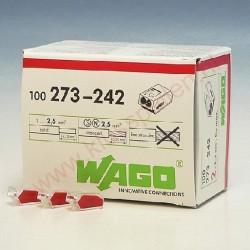 Borne de connexion Wago 2 entrees automatique x100