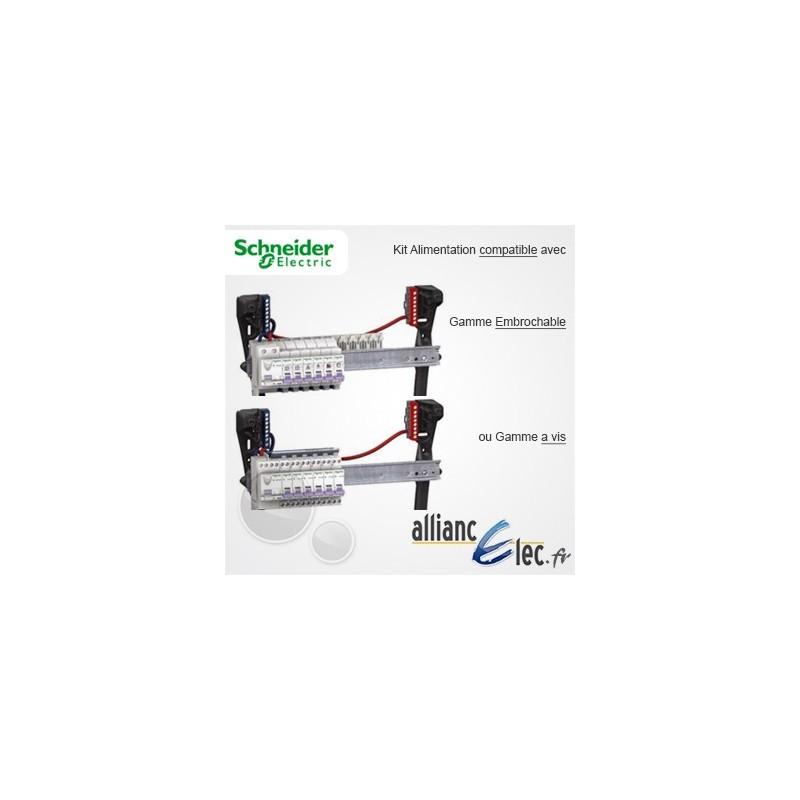 Kit alimentation schneider cable 16mm2 pour peigne vertical 14905 - Kit douille cable interrupteur ...