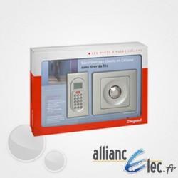 Alarme Prête à poser Legrand Céliane : alarme intrusion radio multiservice - Finition titane