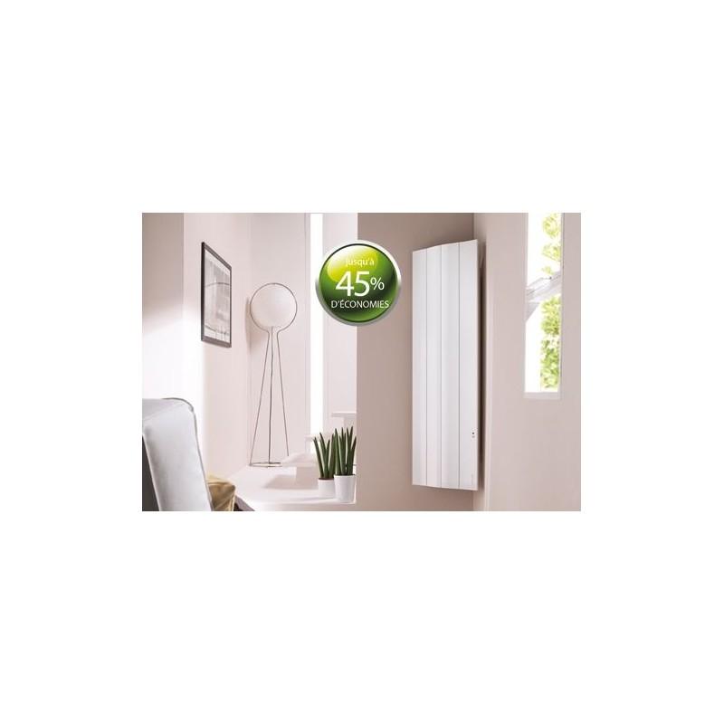 radiateur fluide atlantic galapagos 1000w vertical blanc pilotage. Black Bedroom Furniture Sets. Home Design Ideas