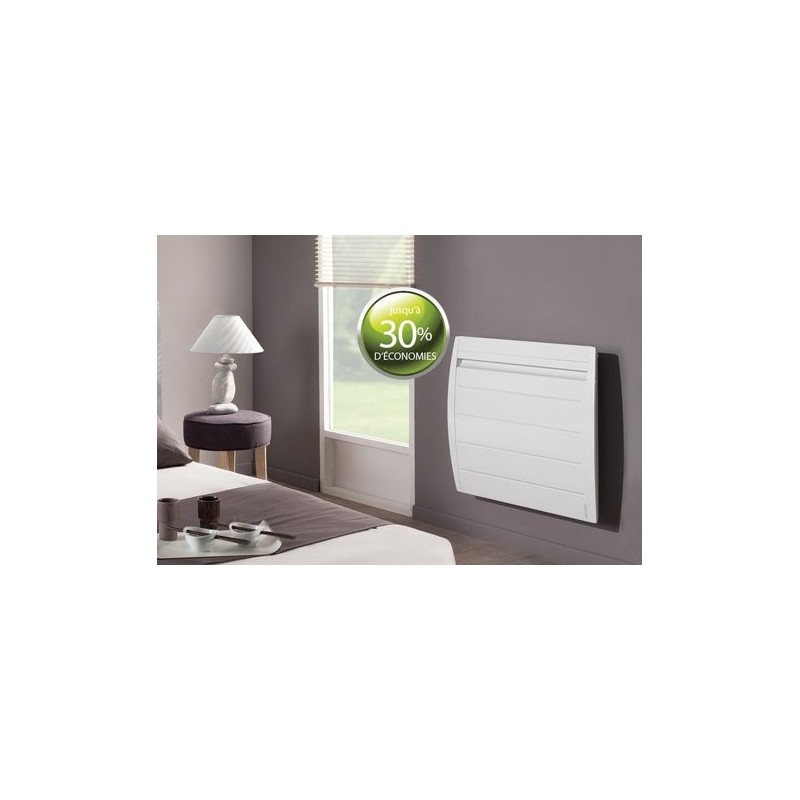 radiateur atlantic nirvana 2000w inertie alu digital blanc. Black Bedroom Furniture Sets. Home Design Ideas