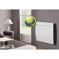 Radiateur Atlantic Nirvana 1250w Inertie Alu Digital Blanc Horizontal