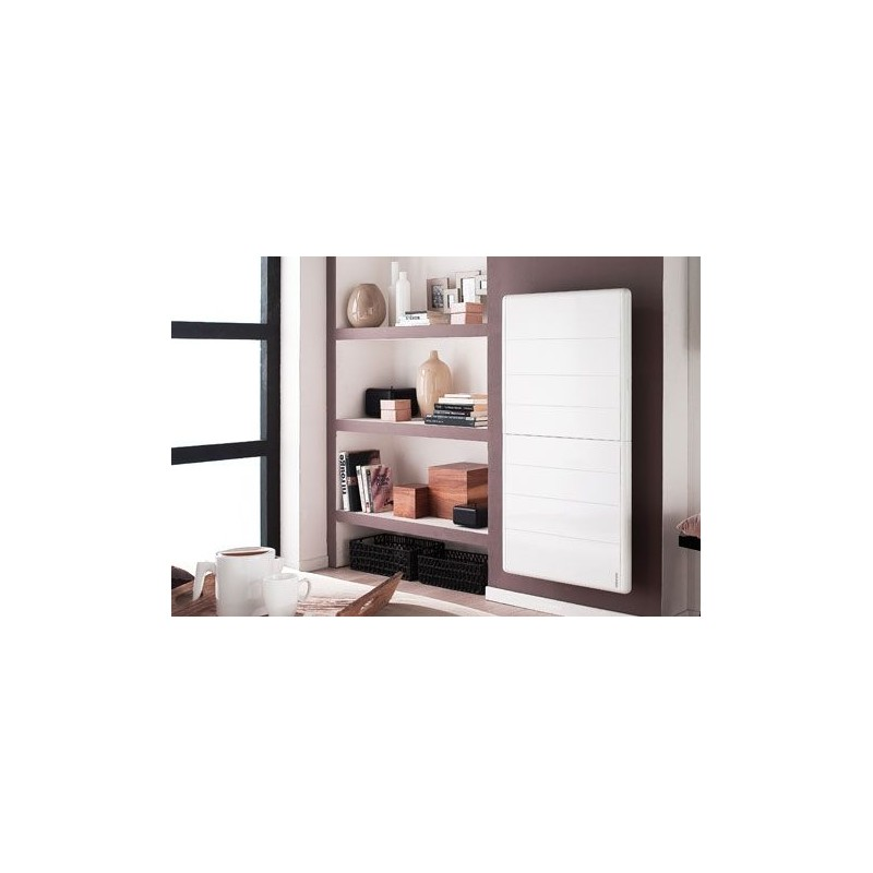 radiateur atlantic kendo 1500w inertie alu digital blanc vertical. Black Bedroom Furniture Sets. Home Design Ideas