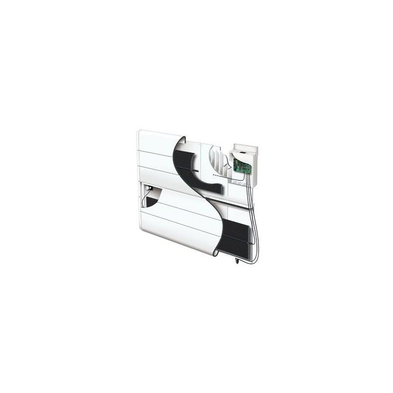 radiateur atlantic kendo 1500w inertie alu digital blanc vertical. Black Bedroom Furniture Sets. Home Design Ideas