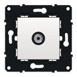 Prise TV 'F' male 0 à 2400 MHz, connecteur male 'F' Espace Evolution Blanc