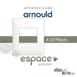 LOT Plaque Blanc 1 Poste x50 Pieces Arnould Espace Evolution