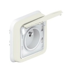 Prise 2 P+T Legrand Plexo Blanc Encastré IP55 10 AX - 250 V