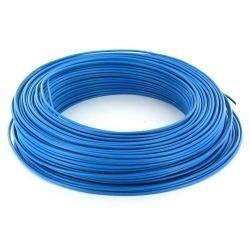 Fil HO7 V-U 1,5 mm² Bleu Rigide couronne de 100 M