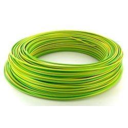 Fil HO7 V-U 1,5 mm² Jaune / Vert Rigide couronne de 100 M