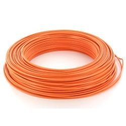 Fil HO7 V-U 1,5 mm² Orange Rigide couronne de 100 M