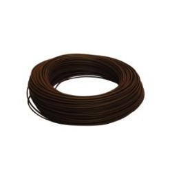 Fil HO7 V-U 1,5 mm² Marron Rigide couronne de 100 M