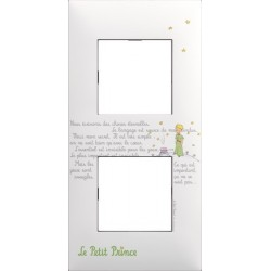 Plaque 2 Postes collection Le Petit Prince Ecrits Arnould Evolution