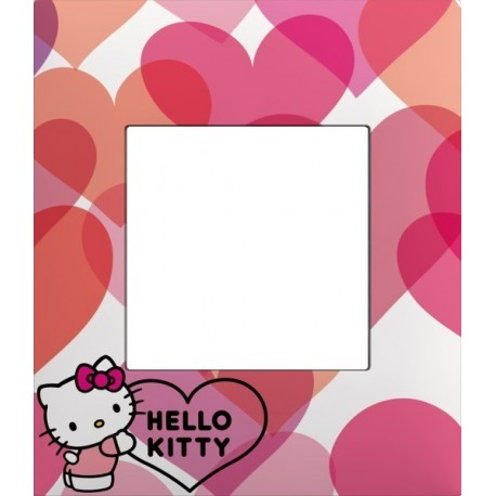 Plaque 1 poste collection hello kitty c ur arnould 64876 - Hello kitty coeur ...