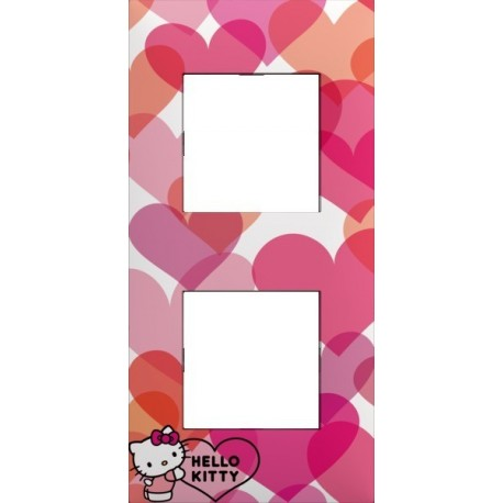 Plaque 2 postes collection hello kitty c ur arnould 64886 - Hello kitty coeur ...