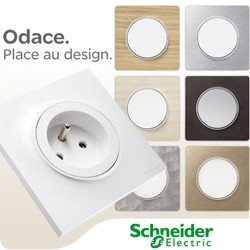 schneider odace appareillage m canismes interrupteurs prises. Black Bedroom Furniture Sets. Home Design Ideas